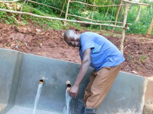 The Water Project:  Ainea Bukachi Enjoying Clean Water