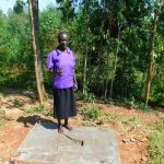 The Water Project: Emwanya Community -  New Latrine Platform Done