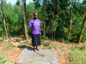 The Water Project:  New Latrine Platform Done