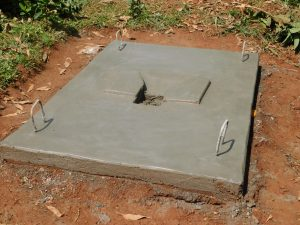 The Water Project:  New Latrine Platform Dries