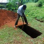 The Water Project: Emwanya Community -  Sinking A Pit For Sanplat Installation