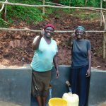 The Water Project: Emwanya Community -  Thumbs Up For Safe Water