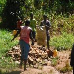 The Water Project: Jivovoli Community -  Community Contributes To Spring Protection