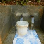 The Water Project: Jivovoli Community -  Spring Water Flowing