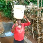 The Water Project: Jivovoli Community -  Thumbs Up For The Protected Spring