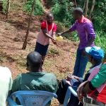 The Water Project: Jivovoli Community, Gideon Asonga Spring -  Handwashing Demonstration