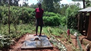 The Water Project:  Standing On New Latrine Platform