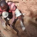 The Water Project: Jivovoli Community, Gideon Asonga Spring -  Cementing Bricks