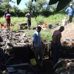 The Water Project: Ingavira Community, Laban Mwanzo Spring -  Construction Underway