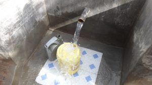 The Water Project:  Filling Up Jerrican With Safe Water