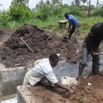 The Water Project: Ingavira Community -  Preparing Ground Around Spring