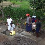 The Water Project: Ingavira Community, Laban Mwanzo Spring -  Training At Protected Well