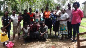 The Water Project:  Community Members Pose After Training