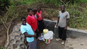 The Water Project:  Posing Around Protected Spring