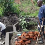 The Water Project: Masera Community, Ernest Mumbo Spring -  Preparing Bricks