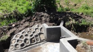 The Water Project:  Spring Protection Nearly Complete