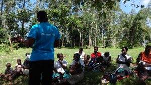 The Water Project:  Trainer Speaking To Community Members