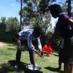The Water Project: Masera Community, Salim Hassan Spring -  Handwashing Demonstration