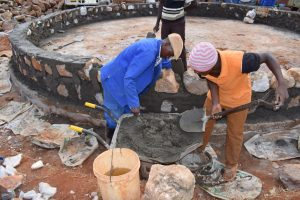 The Water Project:  Building Up Tank Wall