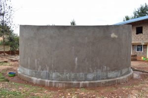The Water Project:  Nearly Completed Tank