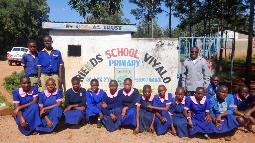 The Water Project : 1-kenya18004-students-at-gate