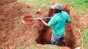 The Water Project:  Digging A Pit For The Latrines