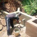 The Water Project: Nambatsa Community -  Spring Protection Construction