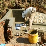 The Water Project: Mwituwa Community A -  Spring Protection Construction