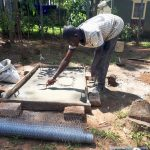 The Water Project: Matsakha C Community -  Sanitation Platform Construction