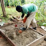 The Water Project: Ejinja Community, Anekha Spring -  Sanitation Platform Construction