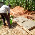 The Water Project: Muraka Community A -  Sanitation Platform Construction