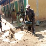 The Water Project: Shitaho Primary School -  Mixing Cement