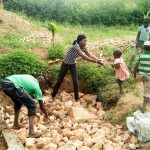 The Water Project: Musango Community A -  Filling In The Spring Box