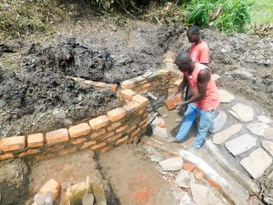 The Water Project:  Spring Protection Construction