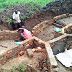 The Water Project: Emulakha Community, Alukoye Spring -  Spring Protection Construction