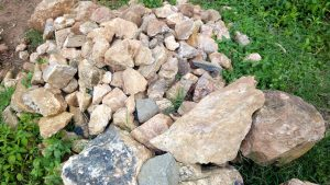 The Water Project:  Stones Gathered For Spring Protection