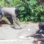 The Water Project: Lwangele Community -  Sanitation Platform Construction