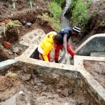 The Water Project: Burachu B Community -  Spring Protection Construction