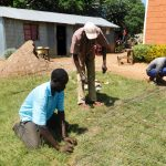 The Water Project: Samson Mmaitsi Secondary School -  Preparing Iron Mesh For The Wall