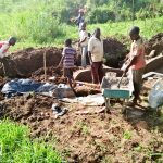 The Water Project: Emulakha Community -  Spring Protection Construction