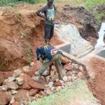 The Water Project: Lwangele Community, Machayo Spring -  Spring Box Construction