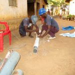 The Water Project: Molokoh Community, 720 Main Motor Road -  Cutting The Screen