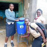 The Water Project: Erusui Secondary School -  Handwashing Station