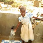 The Water Project: Musango Community A -  Children Could Not Wait To Use The Spring