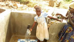 The Water Project:  Children Could Not Wait To Use The Spring