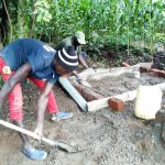 The Water Project: Burachu B Community -  Sanitation Platform Construction
