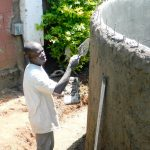 The Water Project: Samson Mmaitsi Secondary School -  Artisan Working On The Wall