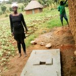 The Water Project: Musango Community A -  Finished Sanitation Platform