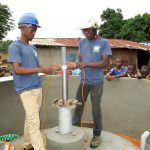 The Water Project: Modia Community, 4 Father Road -  Pump Installation