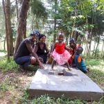 The Water Project: Mbande Community, Handa Spring -  Sanitation Platform